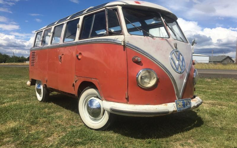 1959 vw 23 window deluxe microbus og paint silver lining for 1959 23 window vw bus for sale